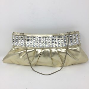 Steve Madden Crystal Gem Embellished Clutch Bag